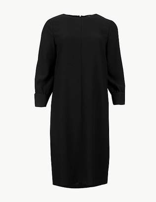 Marks and Spencer Round Neck 3/4 Sleeve Shift Dress