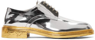 Maison Margiela Silver and Gold Lace-Up Derbys