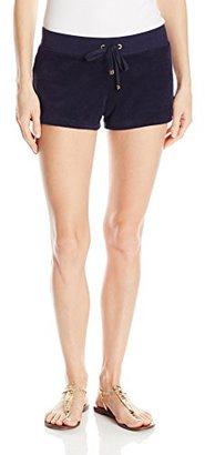 Juicy Couture Black Label Women's Bling Snap Pocket Terry Shorts $78 thestylecure.com