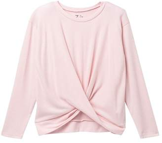 Zella Z by Twisted Long Sleeve Knit Top (Big Girls)