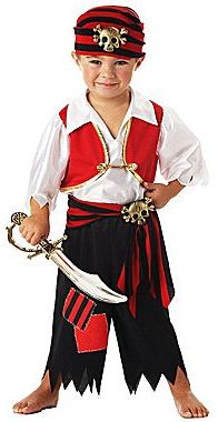 JCPenney Asstd National Brand Ahoy Matey! Pirate Toddler Costume