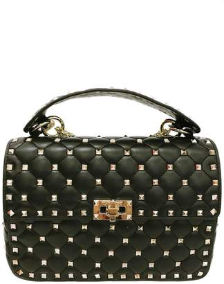 Leather Country Black Quilted Rockstuds