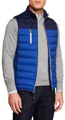 Peter Millar Men's Crown Elite Colorblock Puffer Vest