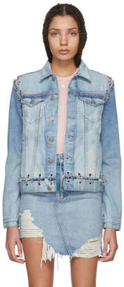 GRLFRND Blue Gia Hardware Denim Jacket