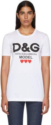 Dolce & Gabbana White Model Logo Shirt