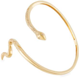 Sydney Evan 14k Diamond Snake Bangle