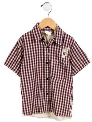 Ikks Boys' Plaid Button-Up Shirt
