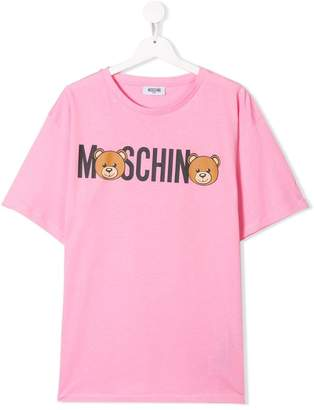 Moschino Kids TEEN bear logo T-shirt
