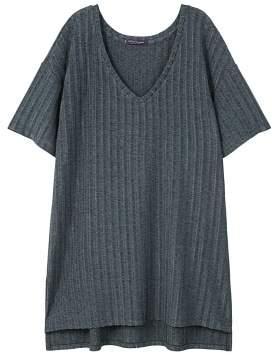 Violeta BY MANGO Textured flowy t-shirt