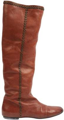 Christian Dior Camel Leather Boots