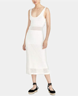 Rachel Roy Aurora Tie-Back Mesh Sweater Dress