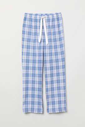 H&M Flannel Pajama Pants - White