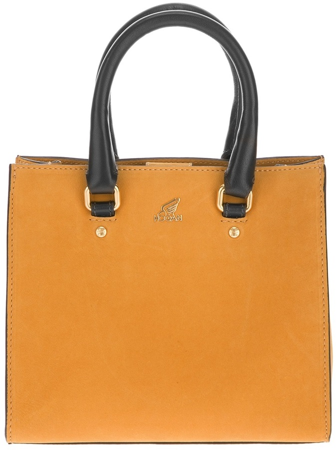 Hogan contrast handle tote
