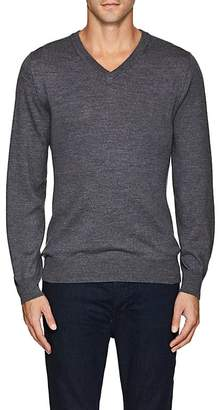 Luciano Barbera MEN'S WOOL V-NECK SWEATER