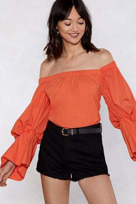 Nasty Gal Puff to No Good Off-the-Shoulder Top