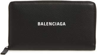Balenciaga Everyday Leather Accordion Wallet