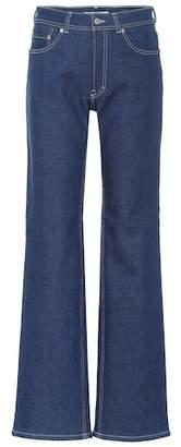 Acne Studios Blå Konst high-rise flared jeans