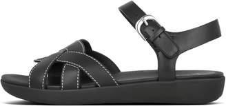 FitFlop Elyna Weave Leather Back-Strap Sandals