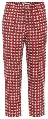 Marni Cropped mid-rise straight silk pants