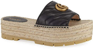 Gucci Pilar Platform Espadrille Sandals