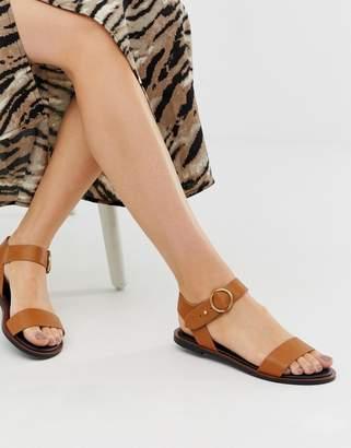Qupid two part flat sandals