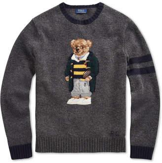 Polo Ralph Lauren Men's Big & Tall Polo Bear Knit Sweater