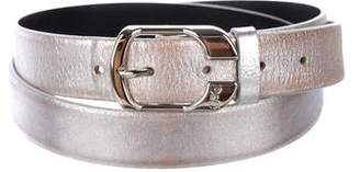 Dolce & Gabbana Distressed Metallic Leather Belt