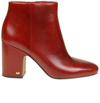 Michael Kors elaine Ankle Boot In Cherry Color