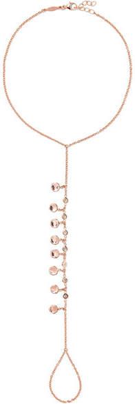 Jacquie Aiche - 14-karat Rose Gold Diamond Anklet