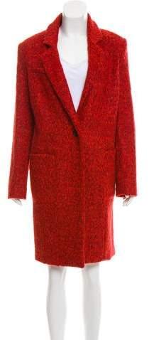 Giselle Wool-Blend Long Coat w/ Tags