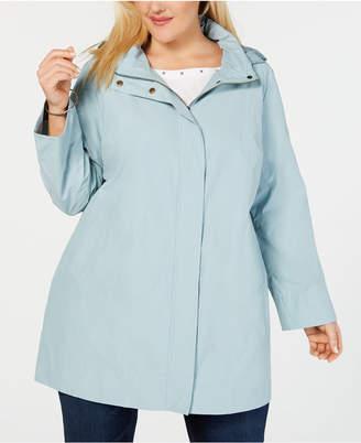 Eileen Fisher Plus Size Organic Cotton Nylon Stand-Collar Jacket