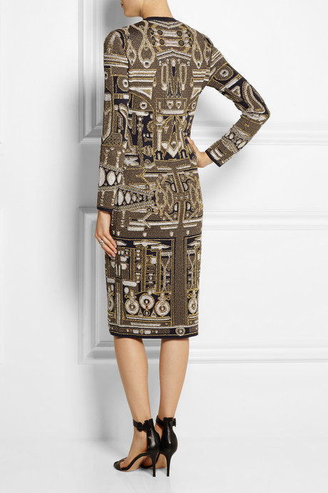 Mary Katrantzou Metallic jacquard-knit dress