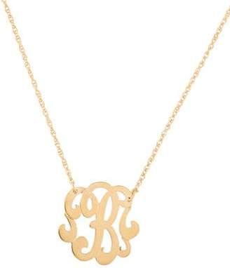 Jennifer Zeuner Jewelry Emily Small Swirly Initial B Pendant Necklace