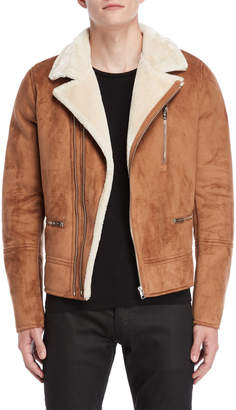 Patrizia Pepe Brown Faux Shearling Jacket