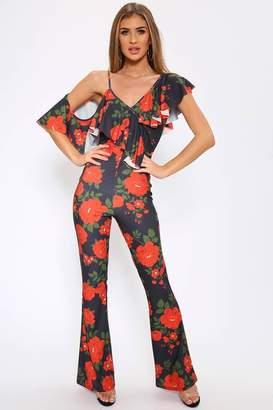 1684723fd6fc I SAW IT FIRST Floral Print Ruffle Jumpsuit