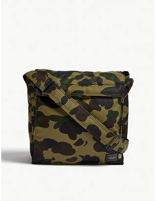A Bathing Ape Ladies Green Camo Porter 1st Cross-Body Bag