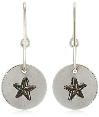 Compass Rose Pendant Hoop Earrings