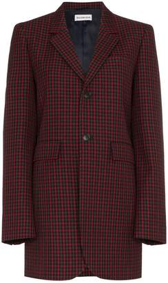 Balenciaga Checked Boxy Fit Blazer