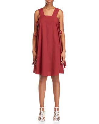 Alysi Brick Red Strappy Tent Dress