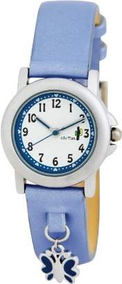 Cactus Girl's Quartz Analogue Watch CAC-56-L04 with Blue Butterflies