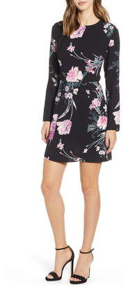 Leith Floral Print Sheath Minidress