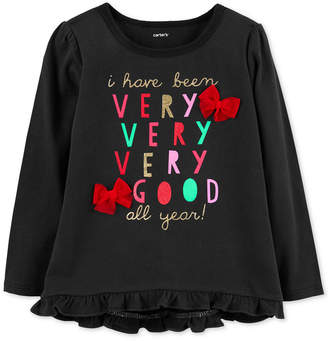 Carter's Carter Baby Girls Very Good Graphic Cotton T-Shirt