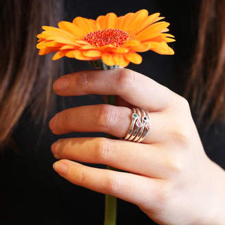 a6d1861df Lushchic Jewellery Colourful Sterling Silver Stack Rings