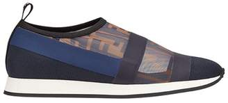 Fendi Zucca mesh slip-on sneakers