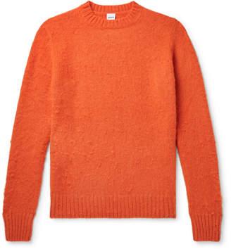 Aspesi Brushed Shetland Wool Sweater - Men - Orange