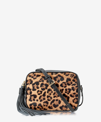 6c61aff51 GiGi New York Madison Crossbody, Leopard Haircalf