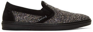 Jimmy Choo Multicolor Glitter Grove Slip-On Sneakers