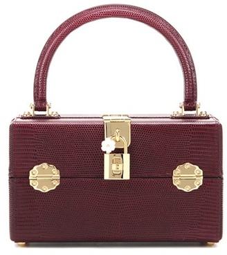 Dolce & Gabbana Dolce Box Vanity Leather Cosmetic Case Handbag