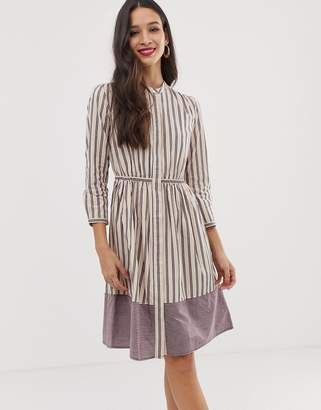French Connection long sleeve stripe dress