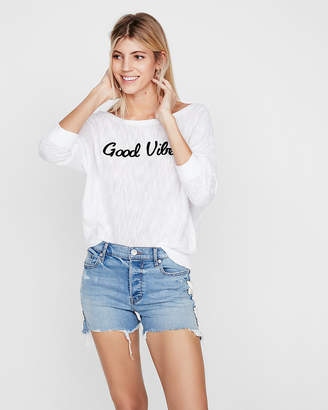 Express Good Vibes Dolman Pullover Sweater